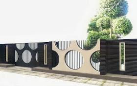 12 Desain Pagar Rumah Minimalis