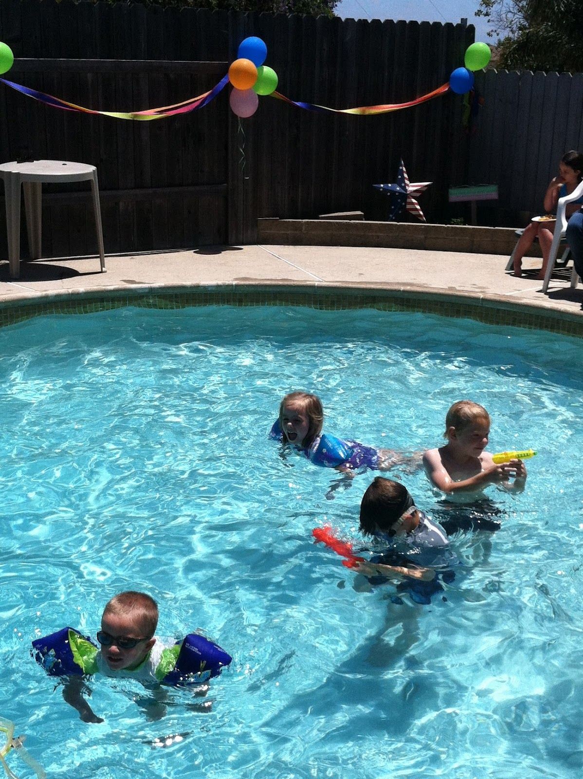Life with the poelstras pool party - Swimming pool party ideas for kids ...