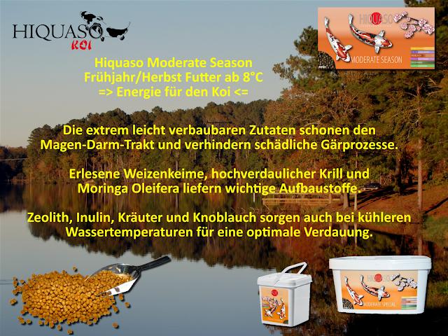 Koifutter Hiquaso Moderate Season Herbst Winter Frühjahr (Wheat Germ)