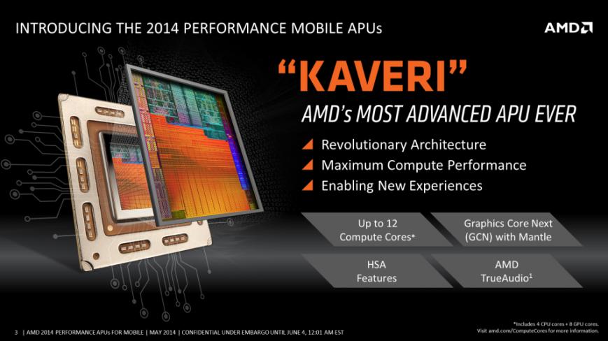 возможности процессоров AMD Kaveri