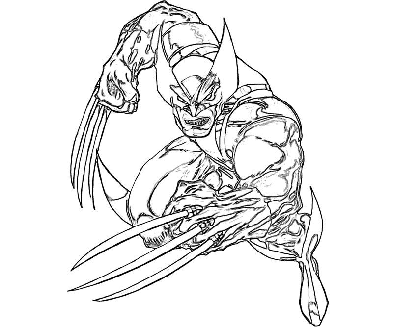 #17 Wolverine Coloring Page