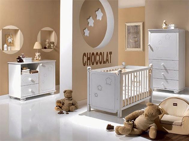 Decotips color chocolate para la habitaci n del beb - Colores para habitacion de bebe ...