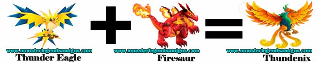 como hacer el monster thundenix en monster legends formula 1