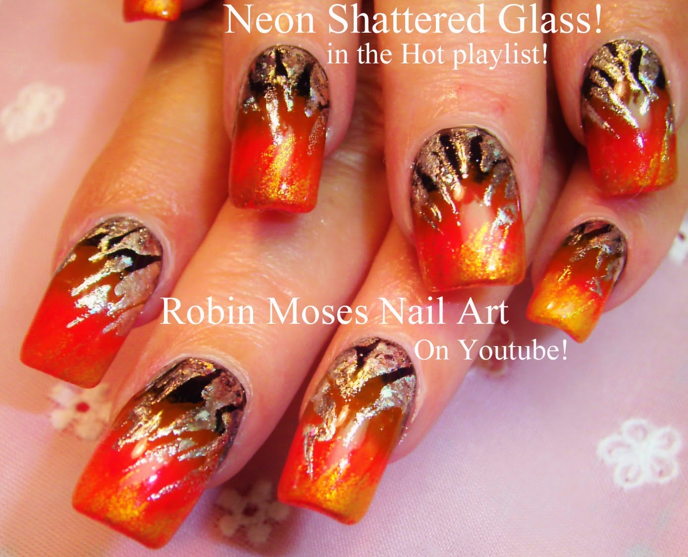 Nail Art By Robin Moses Shattered Glass Halloween Nails