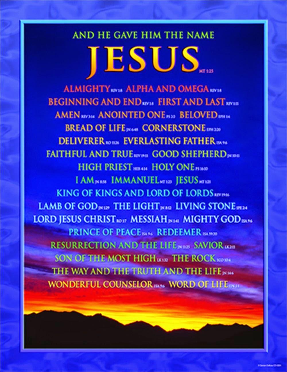 Carson Dellosa Christian Names of Jesus Chart (6324)