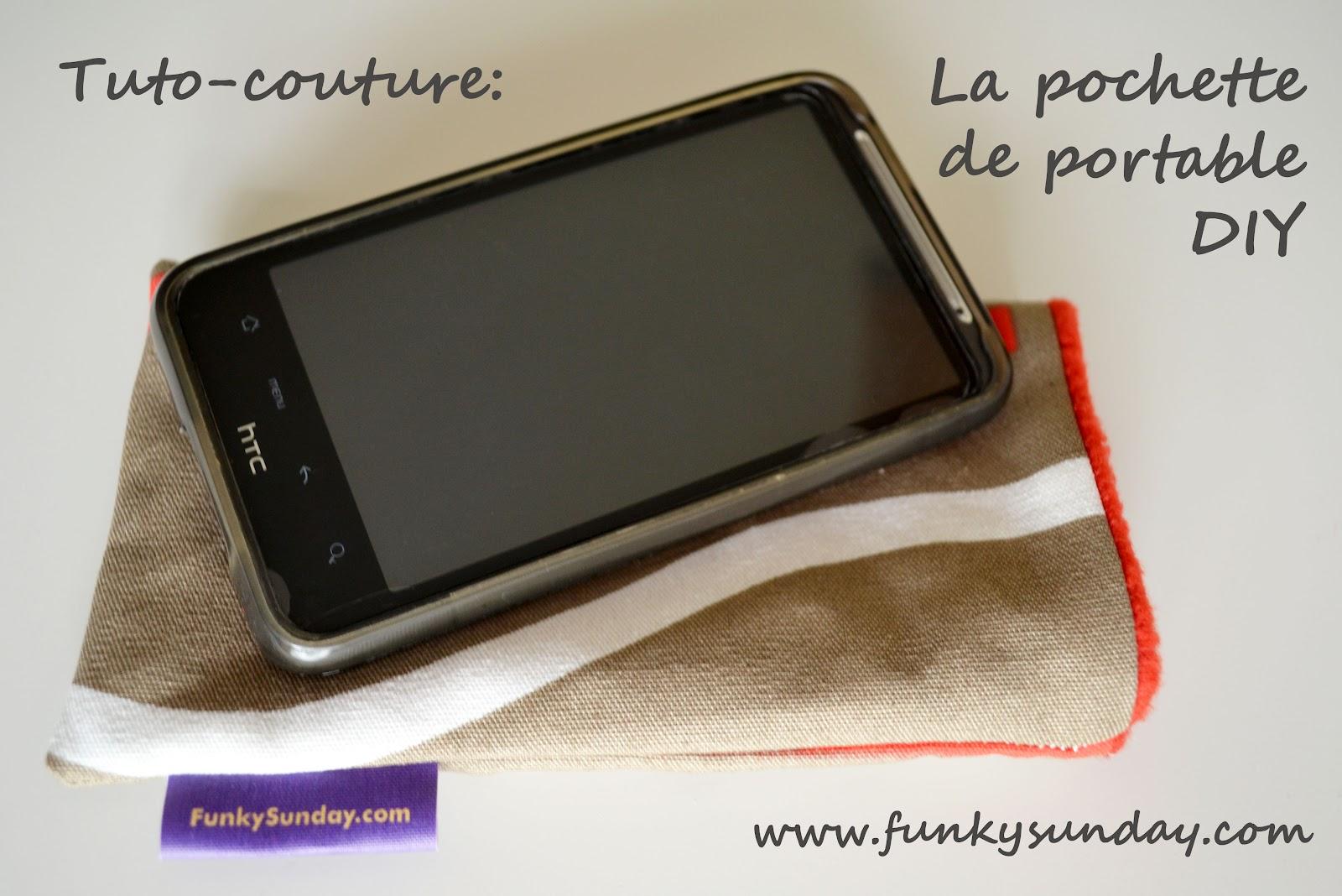 Funky sunday tuto couture une housse de portable diy for Housse portable