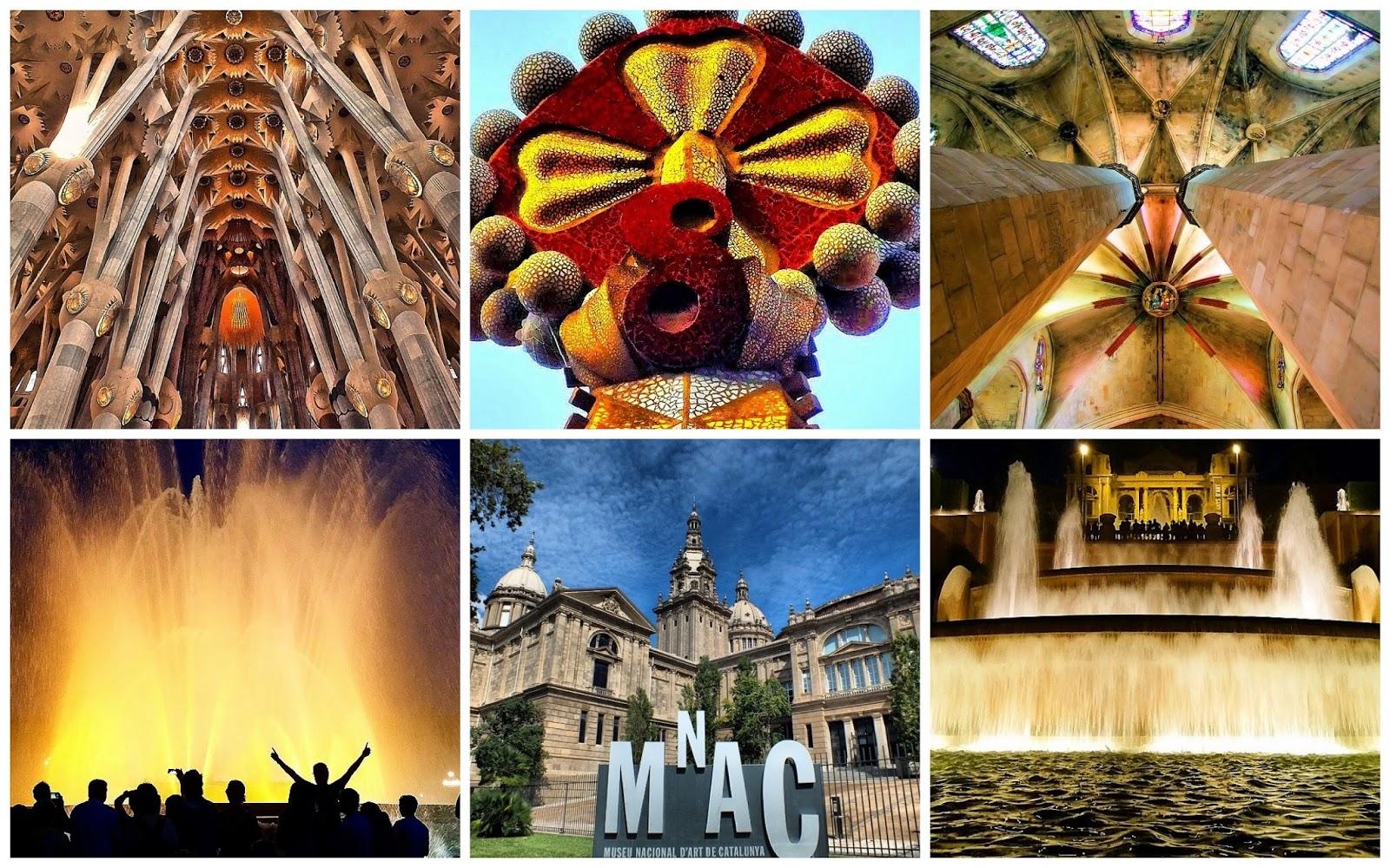 barcelona sagrada familia fotografias artista fuente mágica bcn museo nacional arte cataluña montjuic