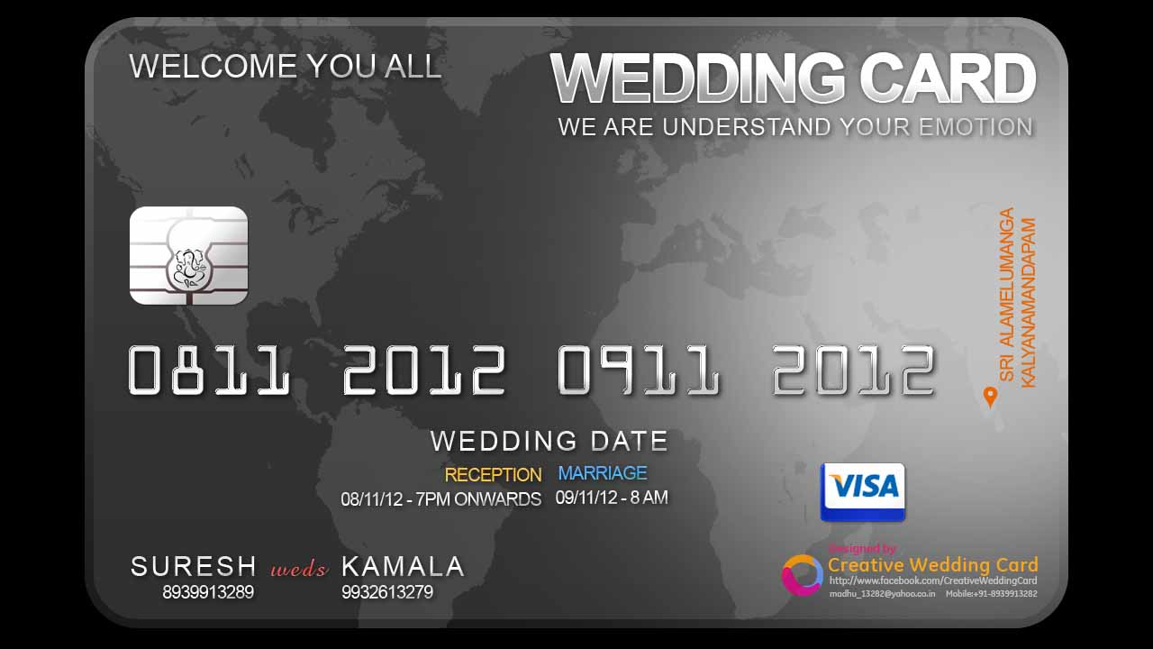 Creative Wedding Card Creative Wedding Card