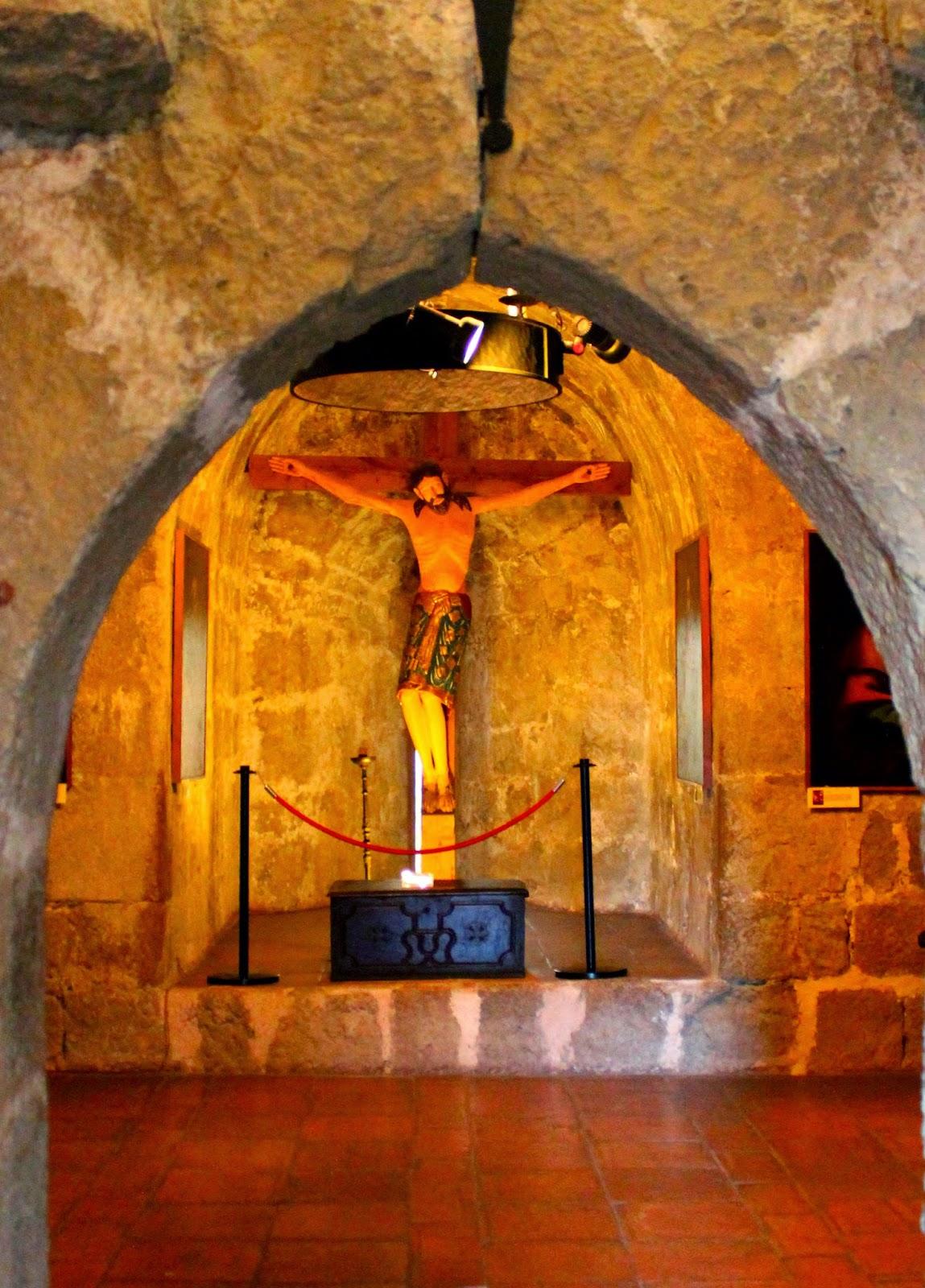 Cristo románico en el castillo de Yedra-Cazorla