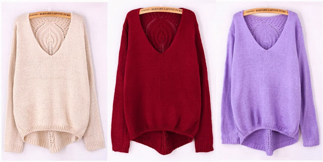 http://www.oasap.com/sweaters-cardigans/34409-v-neck-cutout-back-sweater.html