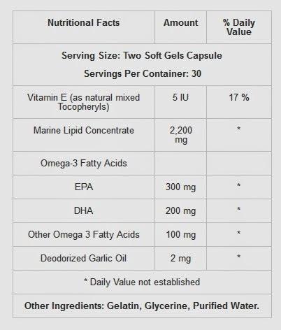Thành phần Thực phẩm chức năng Optimum Omega Nuskin