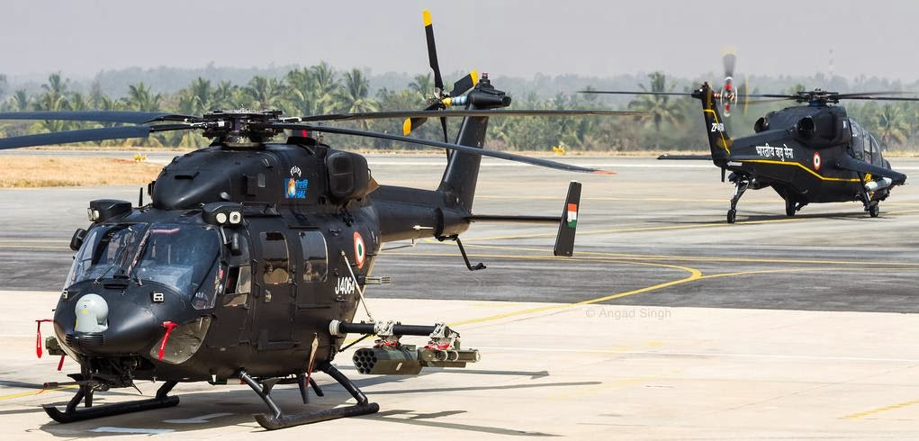 Indian Rudra Armed Utility Helicopter and Light Combat ...