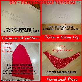 diy praying hijab sewing tutorial girls muslim blog