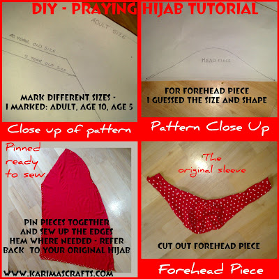 diy praying hijab sewing tutorial girls muslim blog