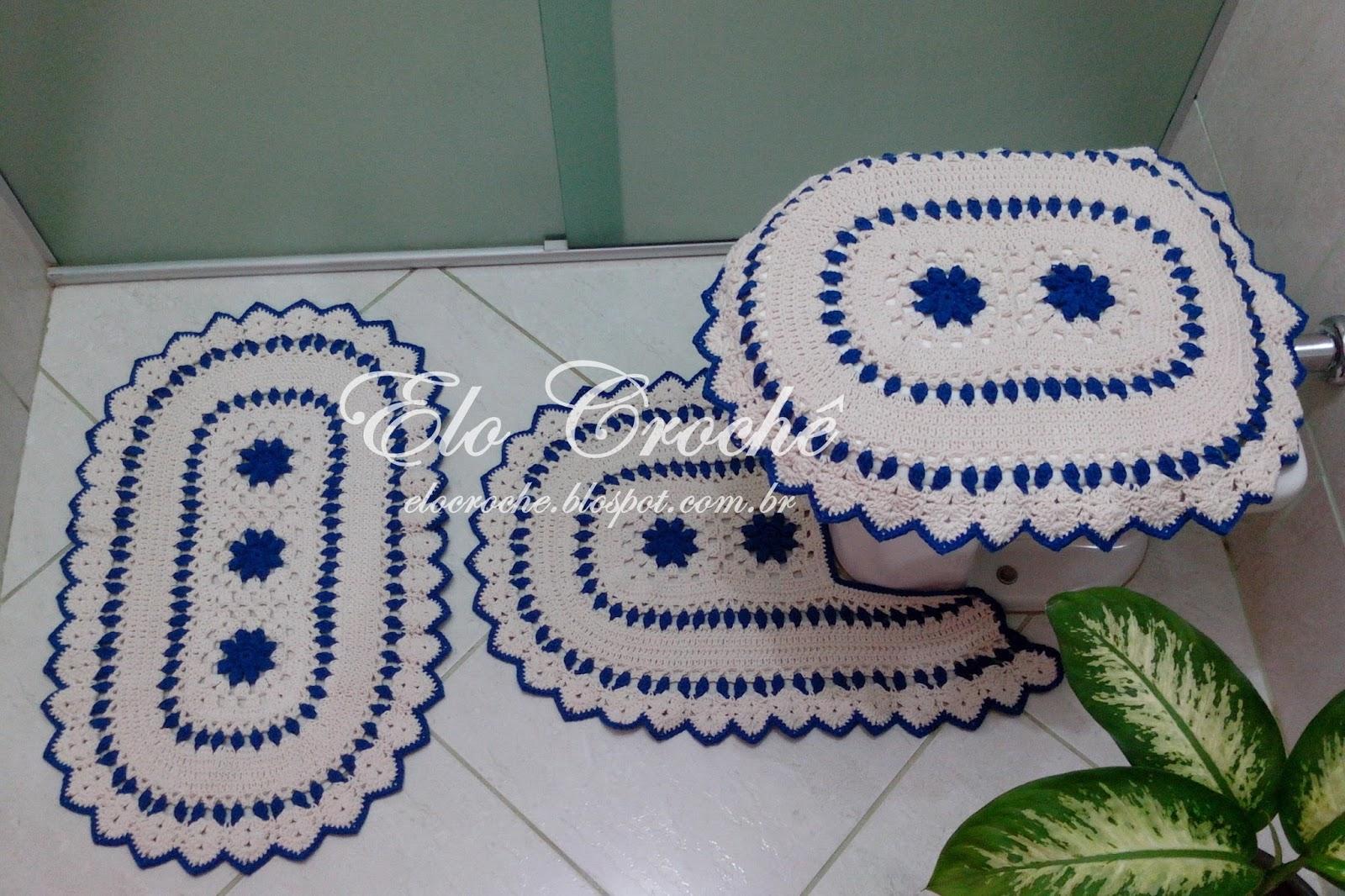 Jogo De Banheiro Azul Em Croche : Elo croch? by eloiza castro jogo de banheiro em croch?