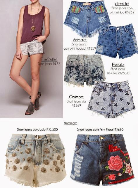 Tendência shorts jeans verão 2014