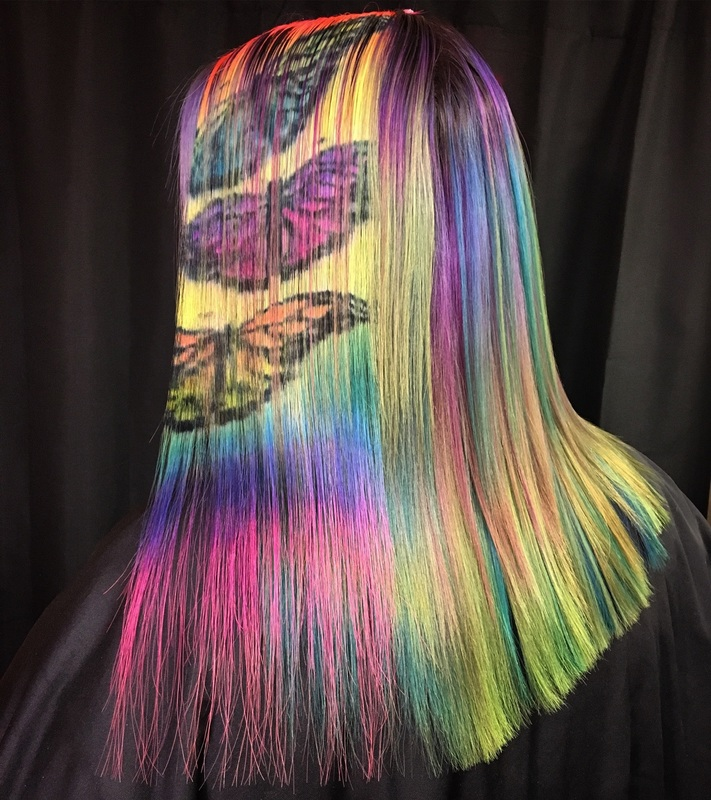 When Painting inspires Hairdressing!