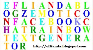 Emoticon Facebook Chat Rainbow Text Generator 2