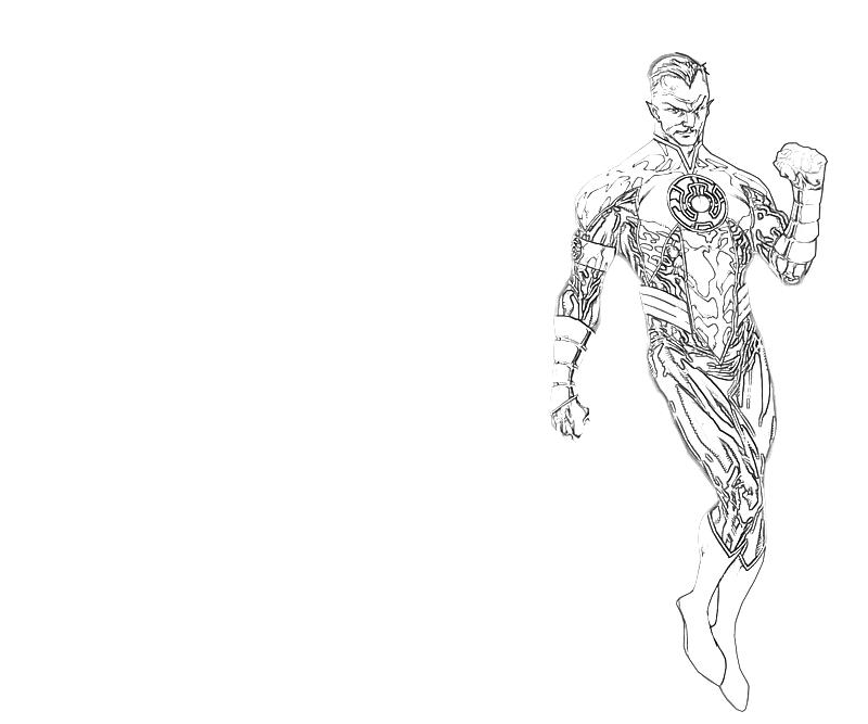 printable thaal sinestro art coloring pages