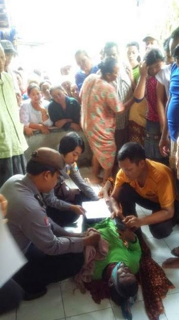 Kakek Tersambar Petir di Sawah Dusun Maner Sumurcinde