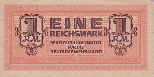 Wehrmacht Nazi Germany banknote 50 funfzig reichspfennig year 1942