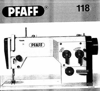 manual pfaff 118 maquina de coser