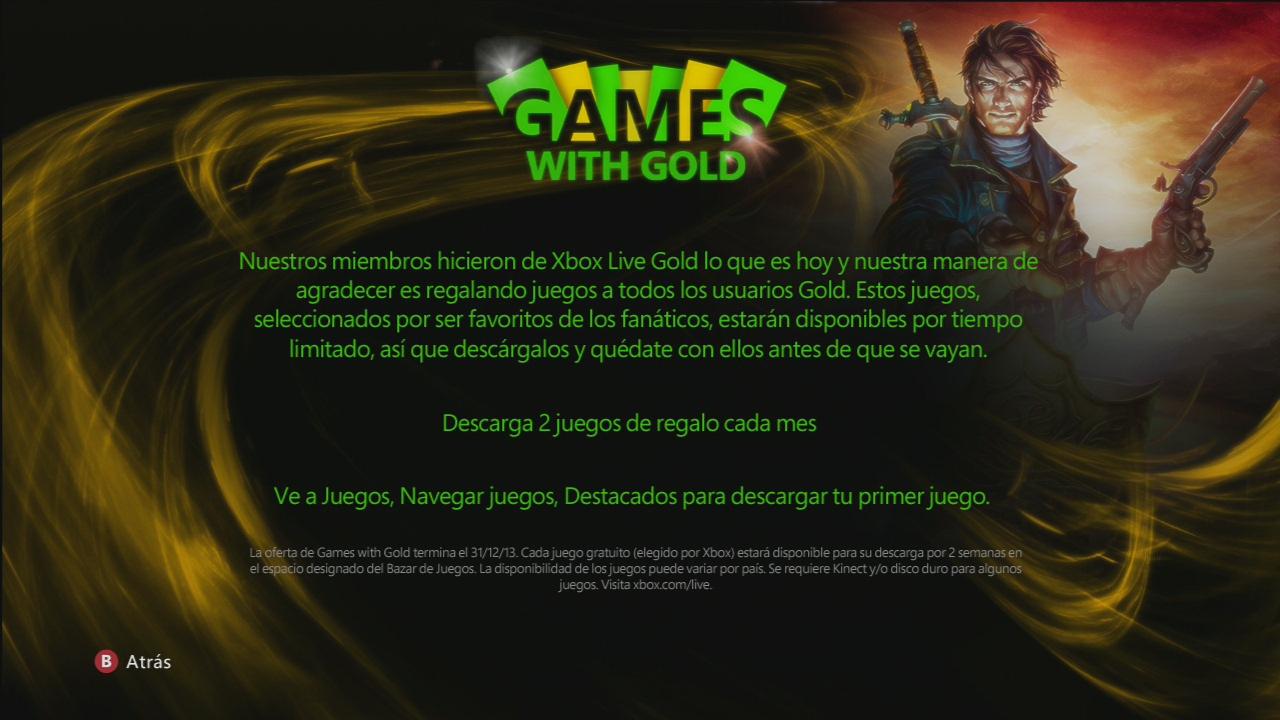 2 juegos gratis cada mes a los usuarios Gold