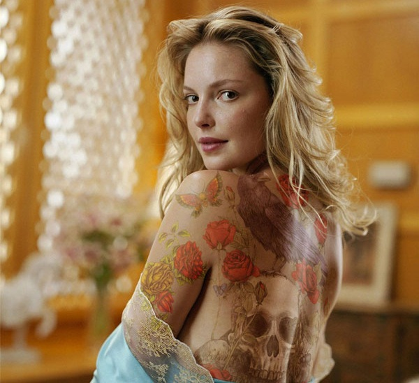 Kirsten Heigl Body Painting