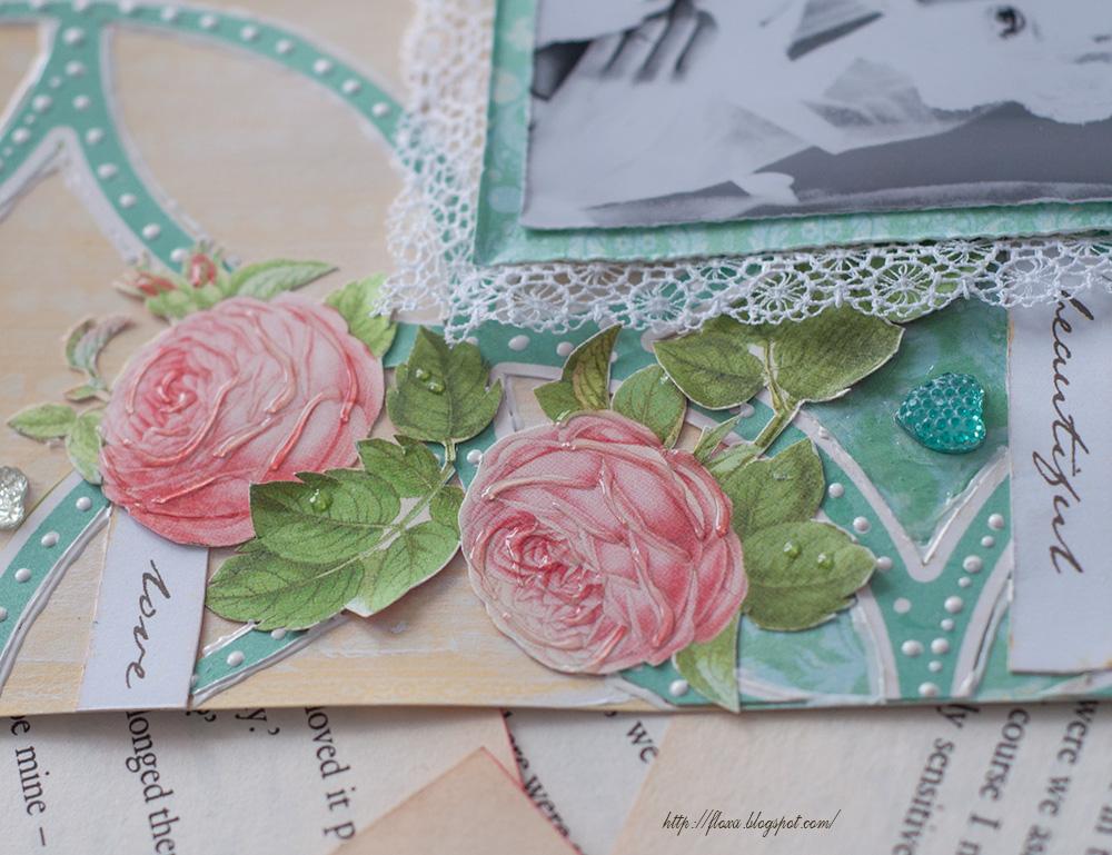 скрап розы, гель-лак, 3Д лак, скрап скрап невеста, скрап свадьба, утро невесты, Modern romance от Webster pages
