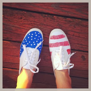 stars and stripes sneaker diy