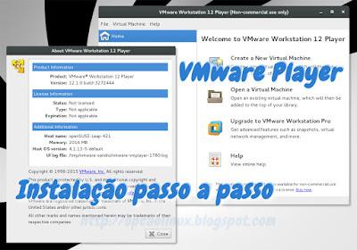 Instalação do VMware Player no openSUSE, CentOS 7, Debian 8 e Ubuntu 14.04