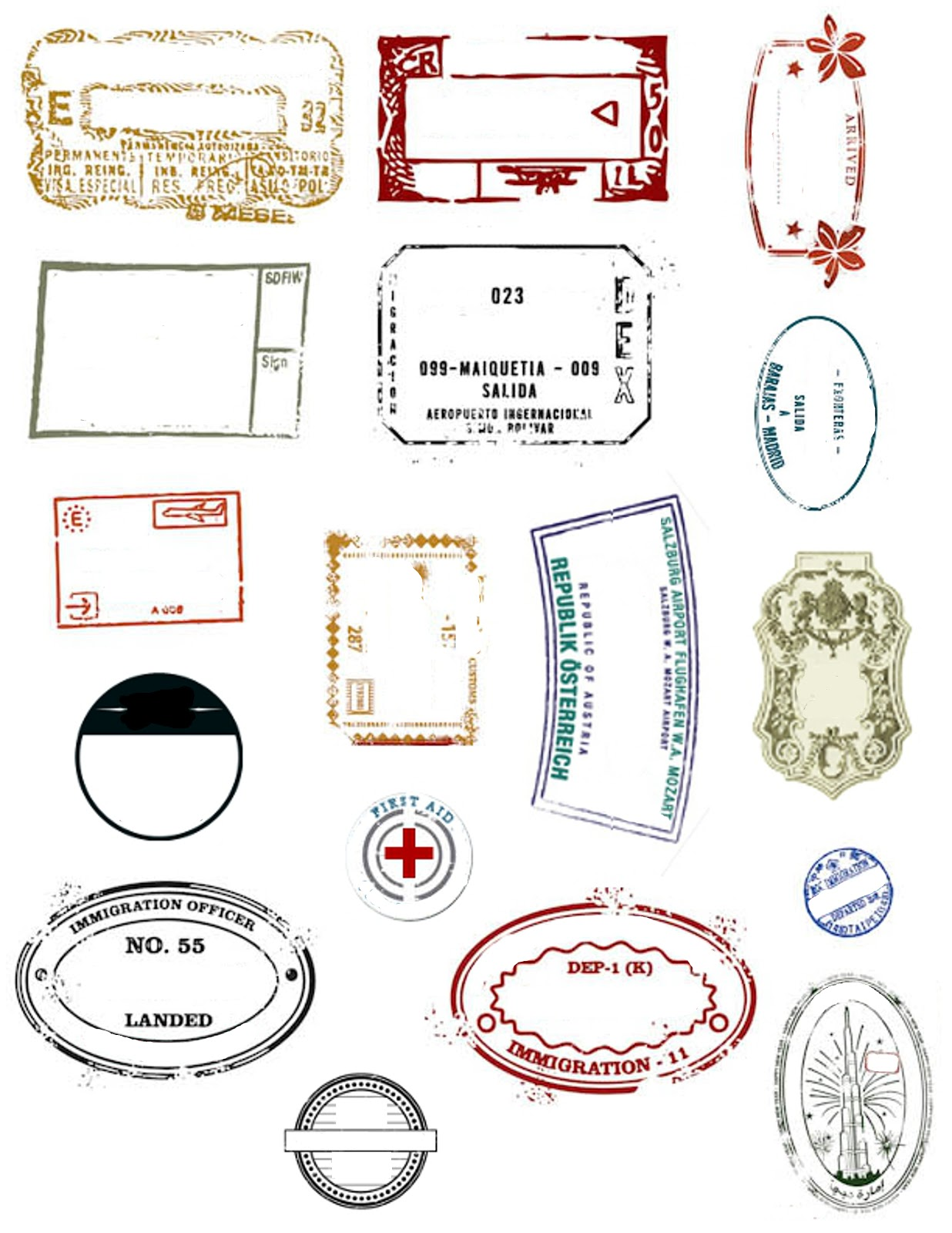 Printable Passport Covers and Stamps for the 2015 LDS Youth Theme at my3monsters.com #embark