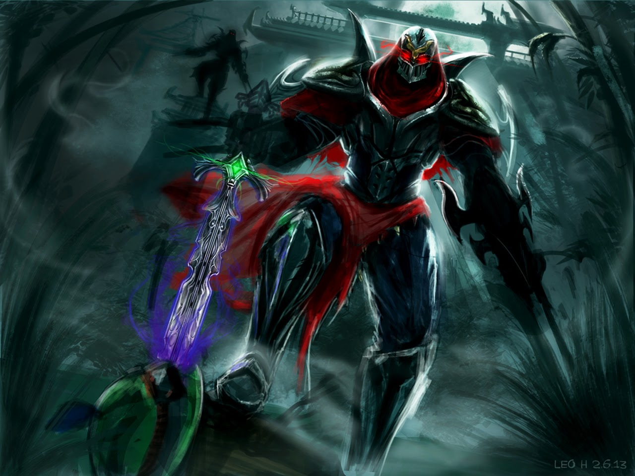 zed art league of legends lol champion hd wallpaper 1280x960 u5.