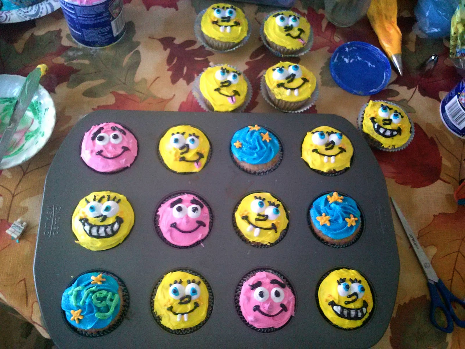 I Didnt Have Much Time To Go All Out But Wanted Make Something Special For My Nephews 3rd Birthday So Decided On Spongebob Cupcakes