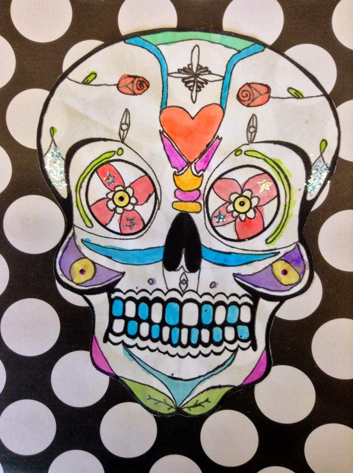Artisan Des Arts Day Of The Dead Skulls Grade 6