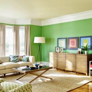 Cores vivas na hora da decoração de interiores