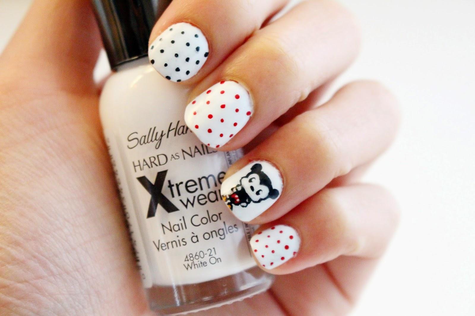 Bubble Pandas Nail Art Mickey Mouse And Polka Dots