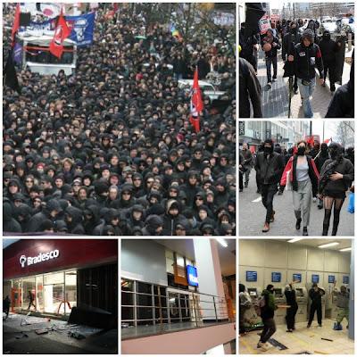 Manifestações - Black blocs
