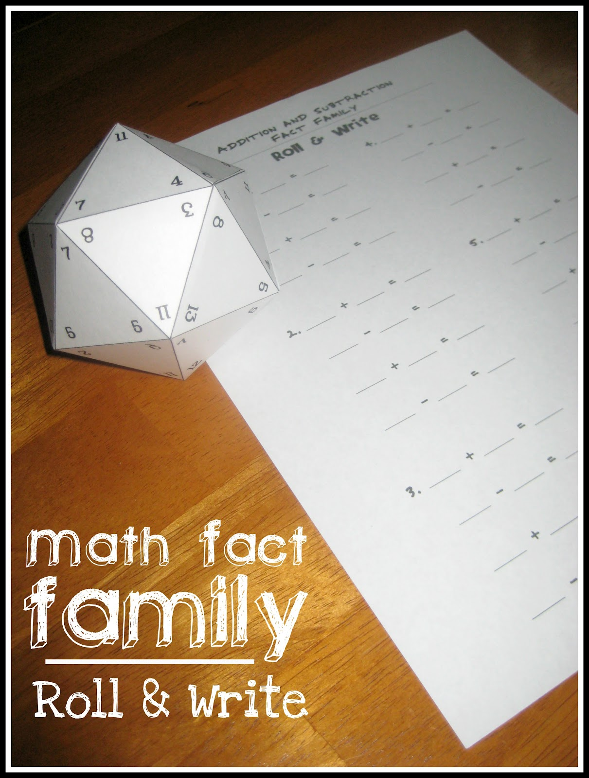 Relentlessly Fun Deceptively Educational Math Fact Family Roll – Fact Triangles Multiplication and Division Worksheets