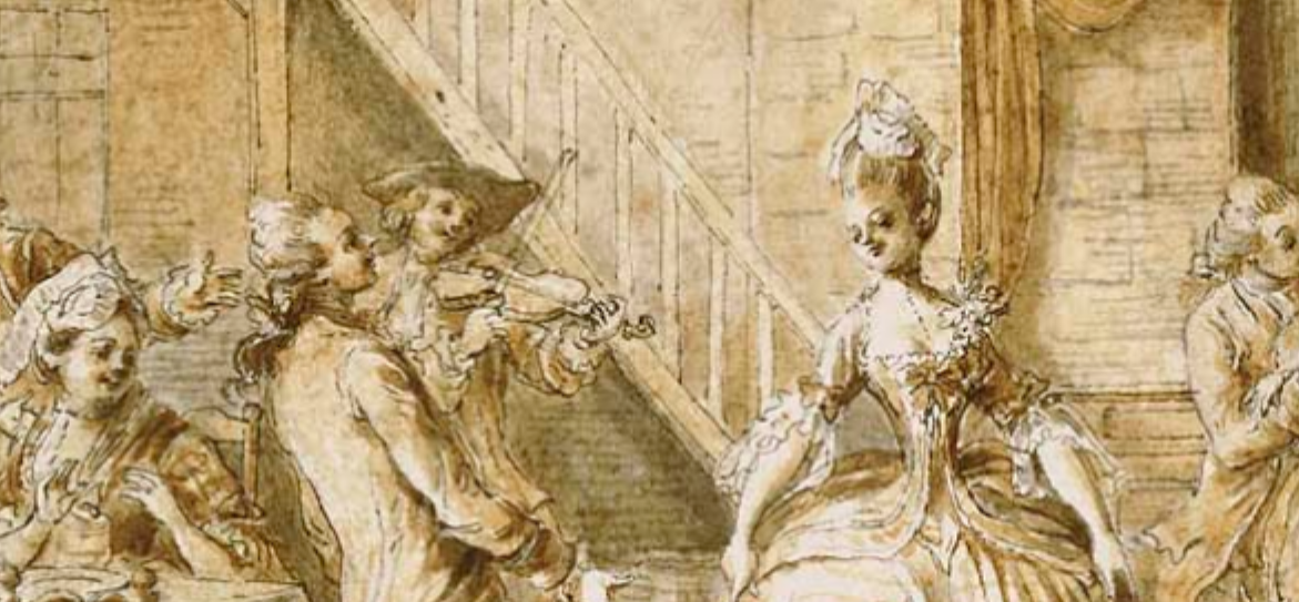 detail of an 18th century dance
