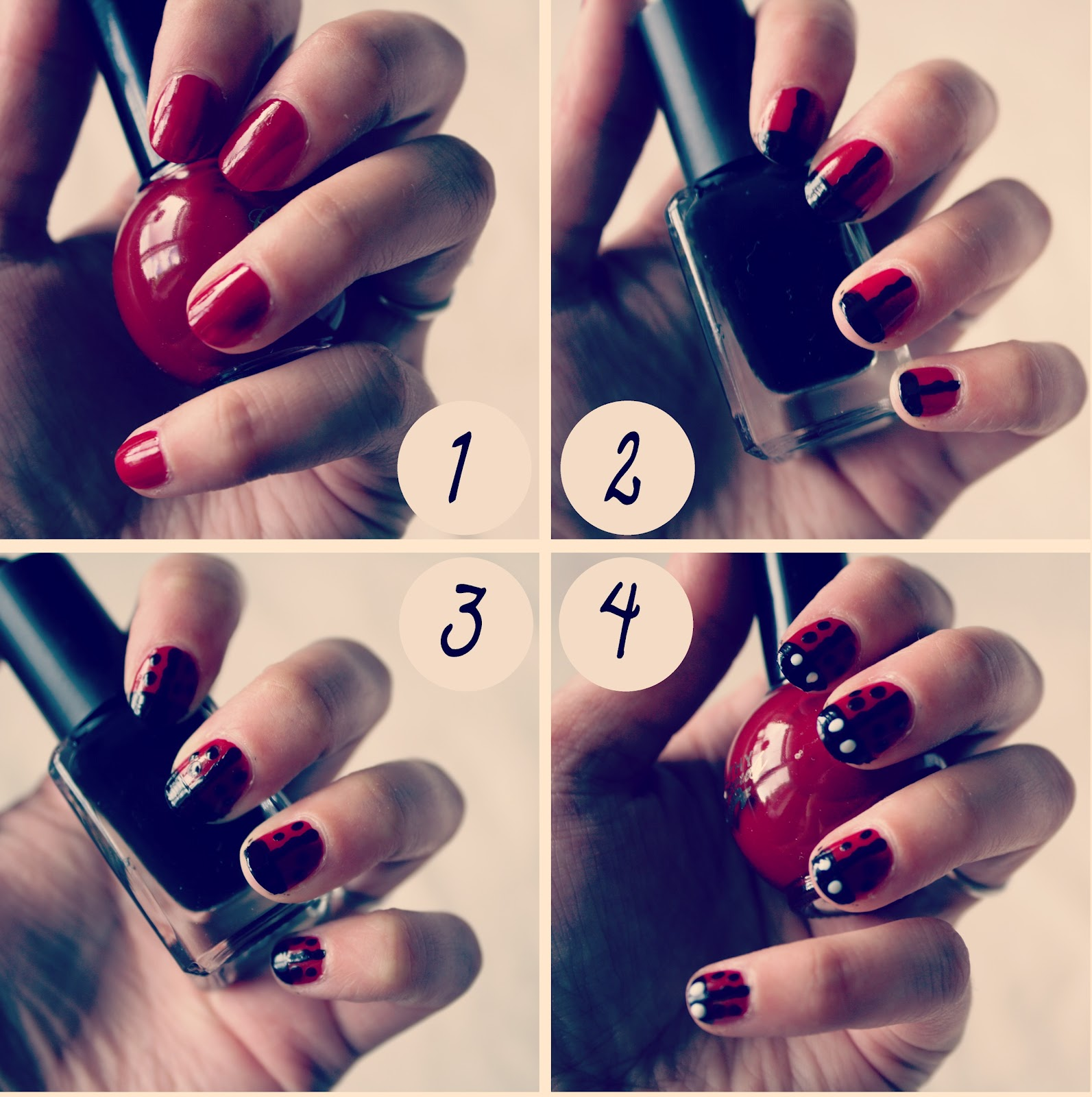 Easy To Do Nail Art: .Leanne Marie.: How To : Ladybird Nail Art Tutorial
