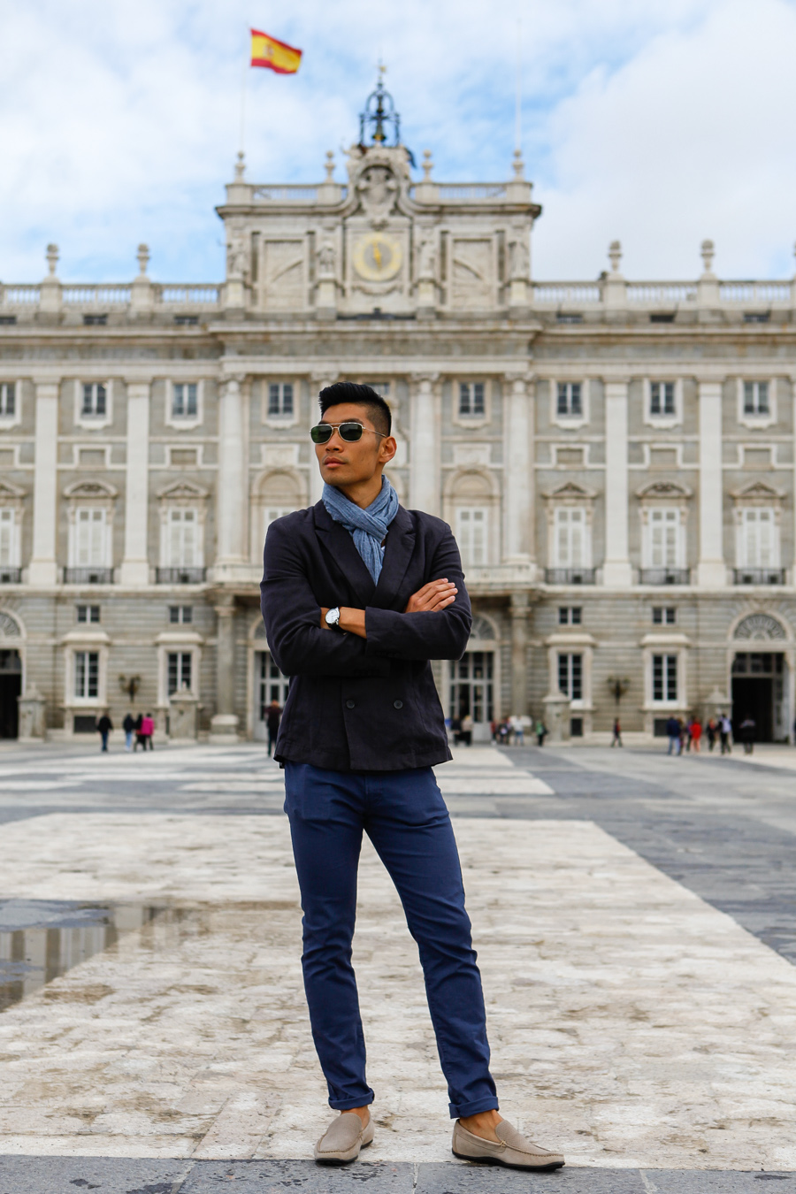 Levitate Style, Levitate Travel, Madrid Spain, Leo Chan, Alicia Mara, double breast blazer, menswear