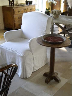 Custom Furniture, Chair and Table by Antiek Amber, as seen on linenandlavender.net