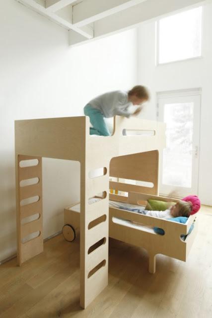 Dormitorios para ni os - Literas para ninos espacios pequenos ...