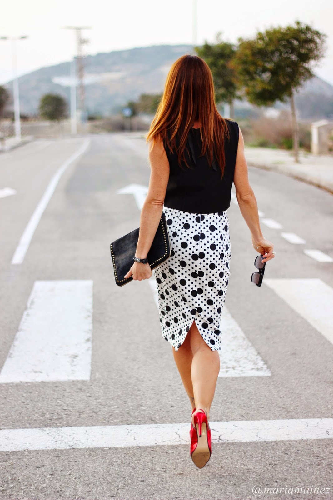 Total look Denny Rose - Falda tubo - lunares - fashion blogger - streetstyle