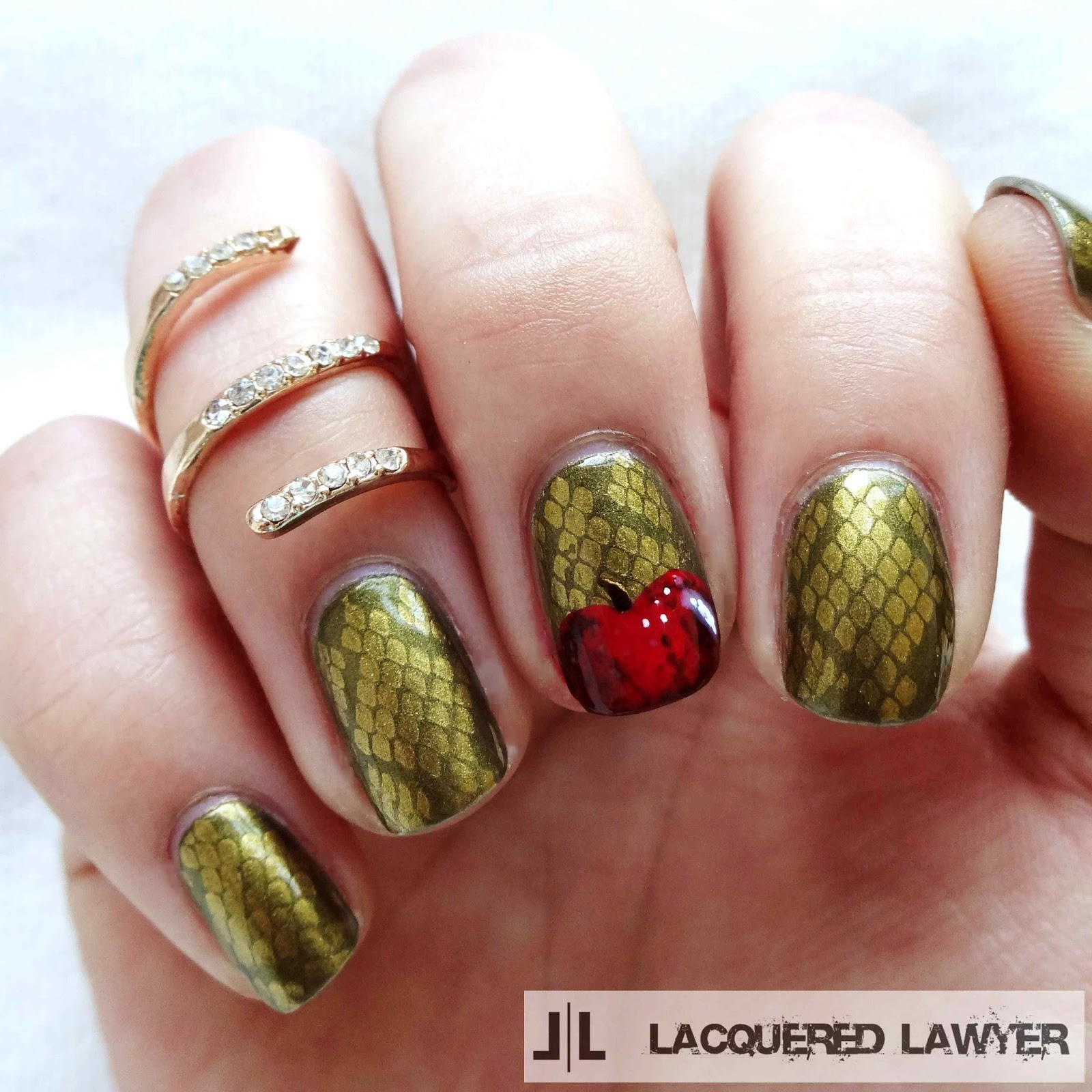 Snake In The Garden Nail Art