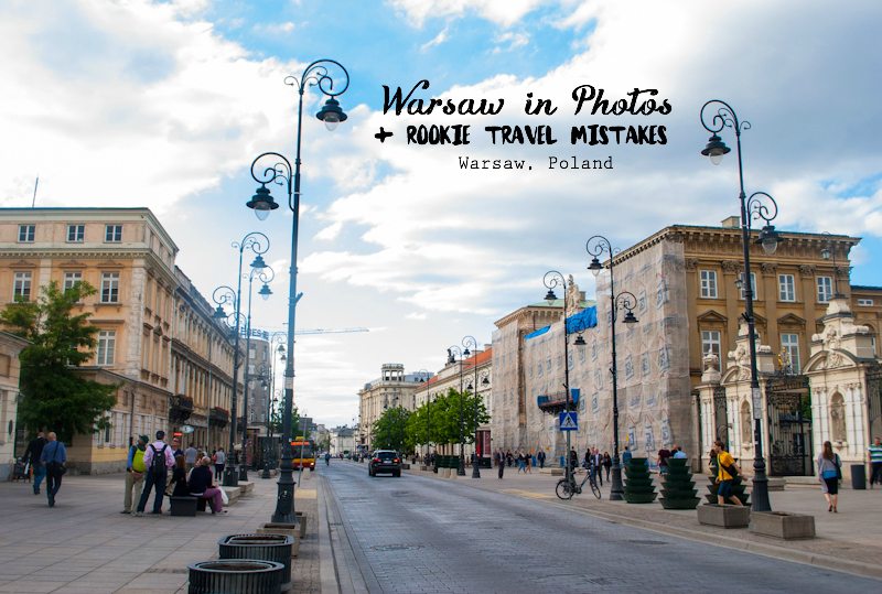 Image of warsaw's most beautiful street in poland