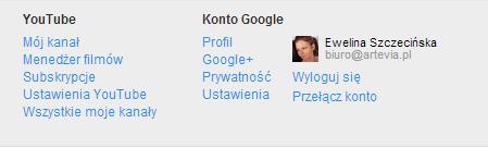 profil na stronie głównej YouTube