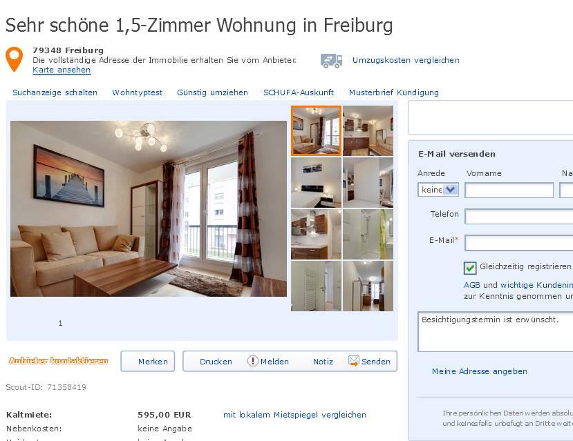 h7christopher sehr sch ne 1 5 zimmer wohnung in freiburg. Black Bedroom Furniture Sets. Home Design Ideas