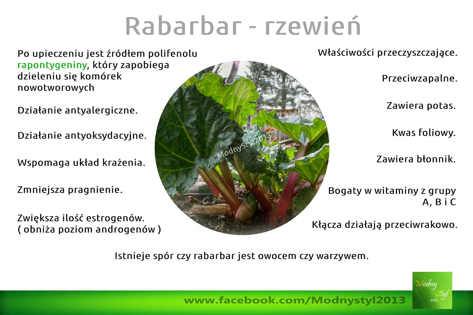 Rabarbar - rzewień